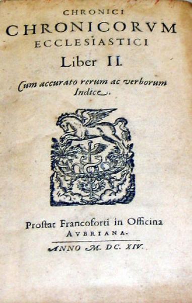 Chronici Chronicorvm Ecclesiastici