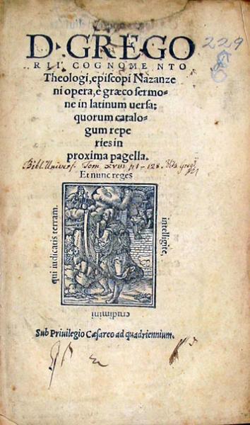 Opera, è graeco sermone in latinum uersa