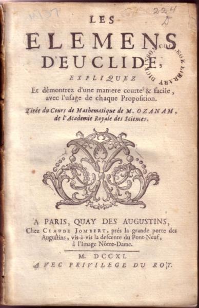 Les Elemens D'Euclide