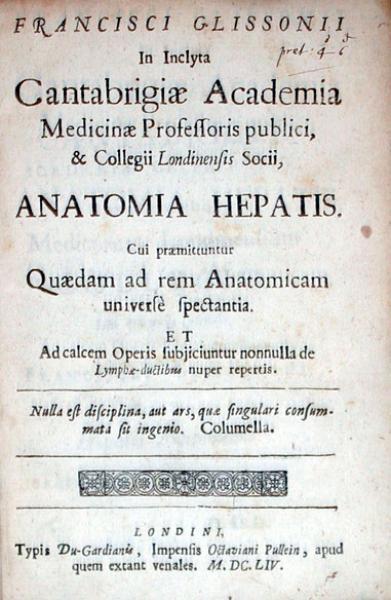 Anatomia Hepatis. Cui praemittuntur Quaedam ad rem Anatomicam...