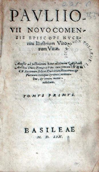 Illustrium Virorum Vitae…Tomvs Primvs