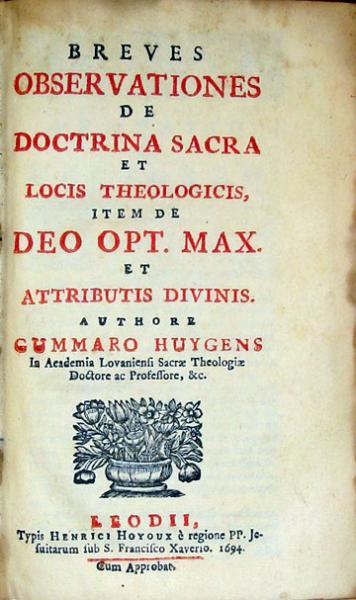 Breves Observationes De Doctrina Sacra et Locis Theologicis...