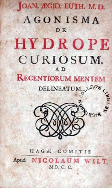 Agonisma de Hydrope Curisum. Ad Recentorum Mentem Delineatum