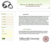 Slavery and Abolition Resource Center home page