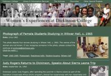 Women's Experiences at Dickinson College home page