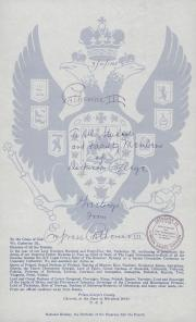 Letter From Empress Catherine III